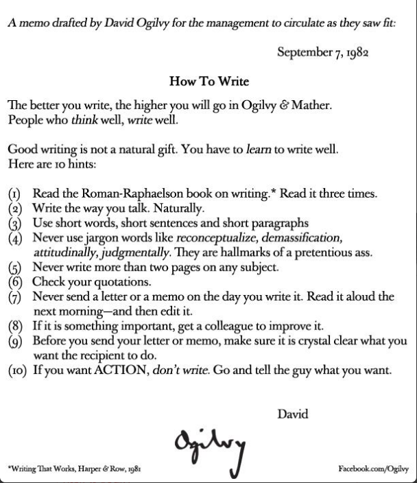 How to Write by Ogilvy